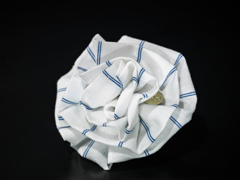 MyB Cotton Flower White/Navy Stripe