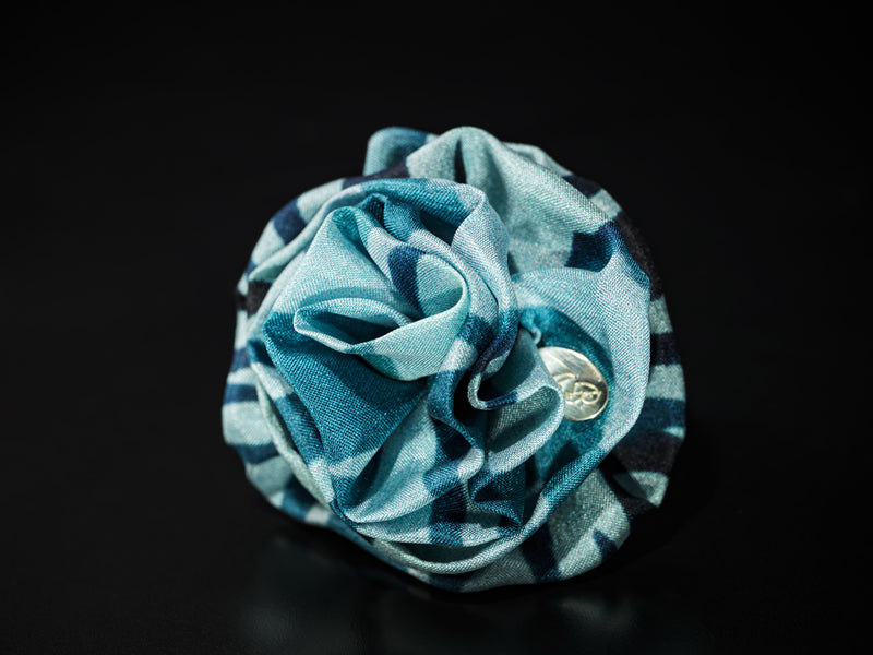 MyB Silk Flower Wave Print Blues