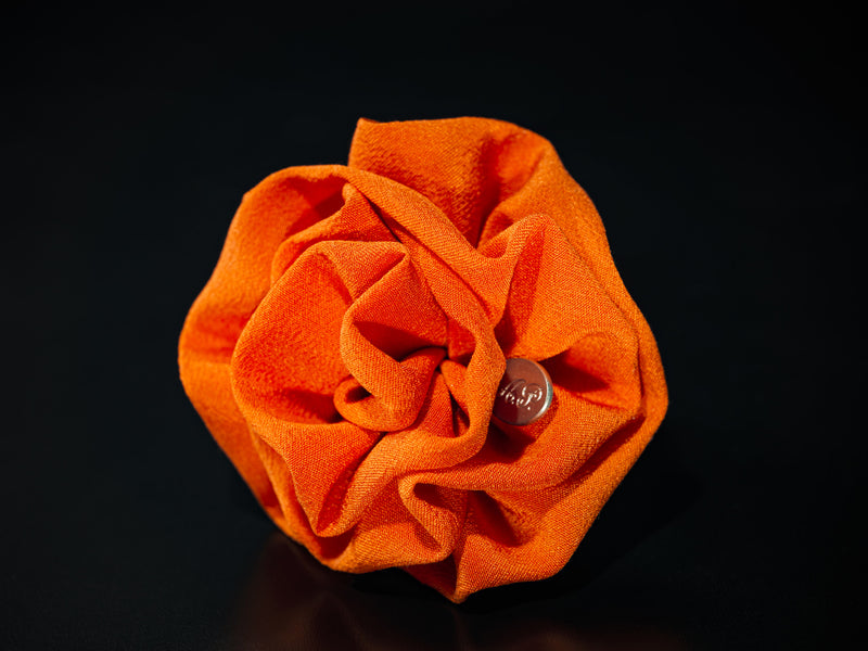 MyB Silk Flower Crepe De Chine Orange