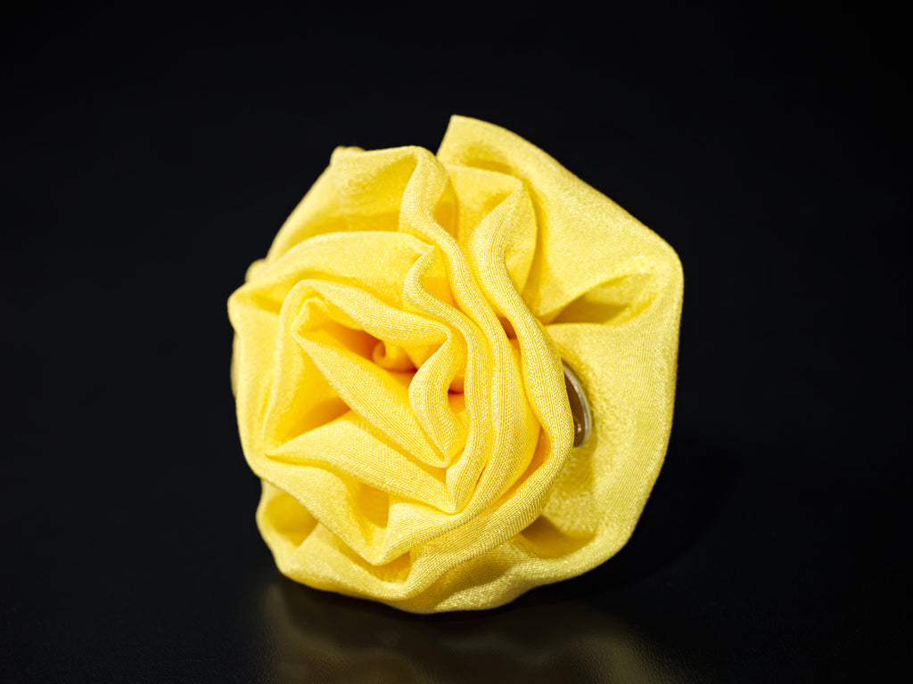 MyB Silk Flower Crepe De Chine Bright Yellow