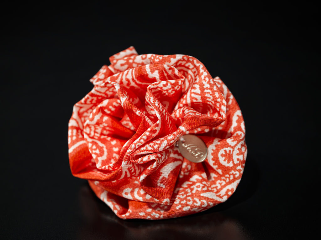 MyB Silk Flower Floral Coral Red/White