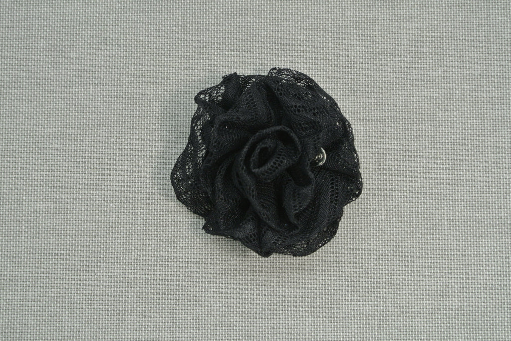 MyB Silk Flower Black Lace