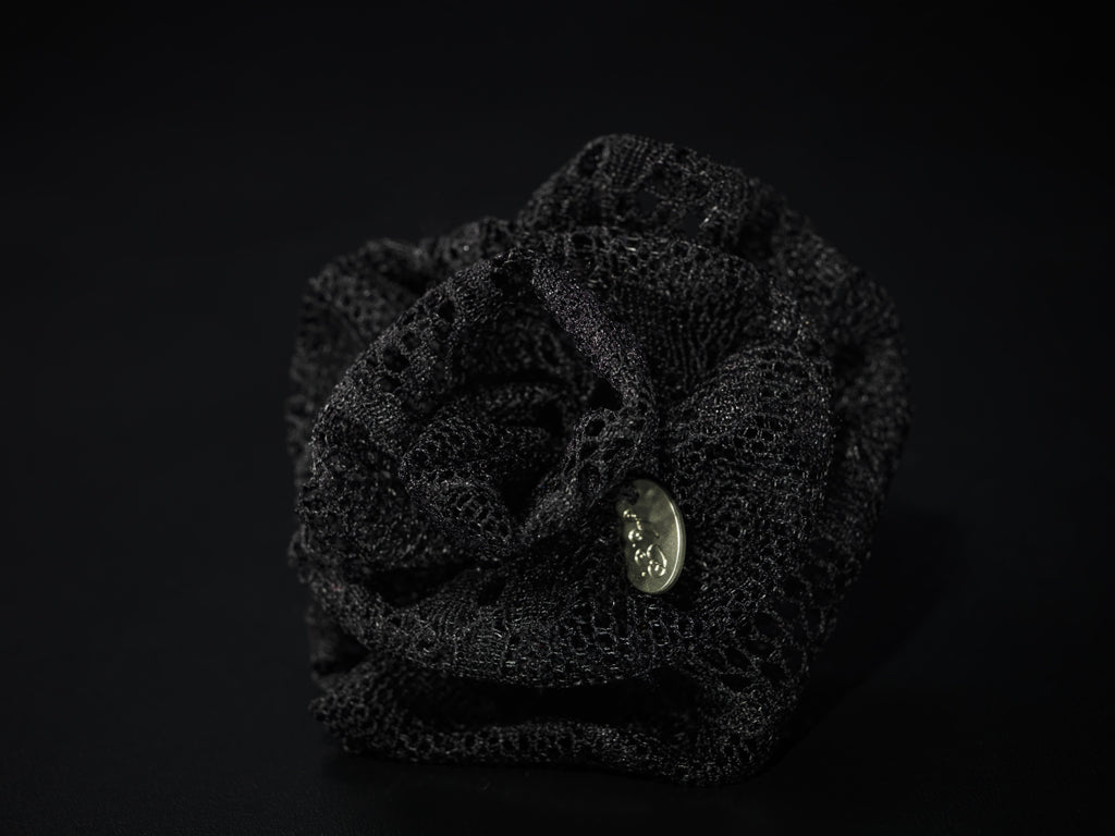 MyB Silk Flower Lurex Black