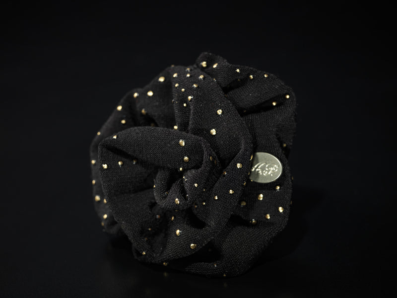 MyB Silk Flower Lurex Pacman Gold Black