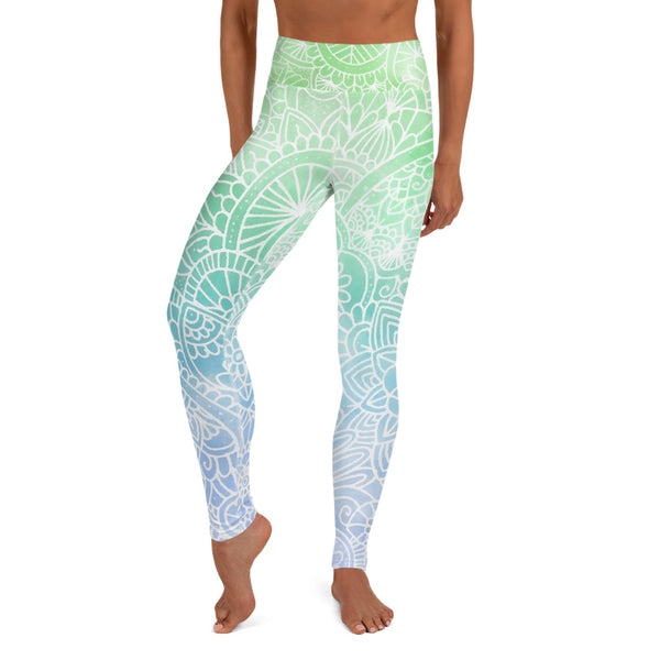 Aurora Ombré Women's Yoga Leggings