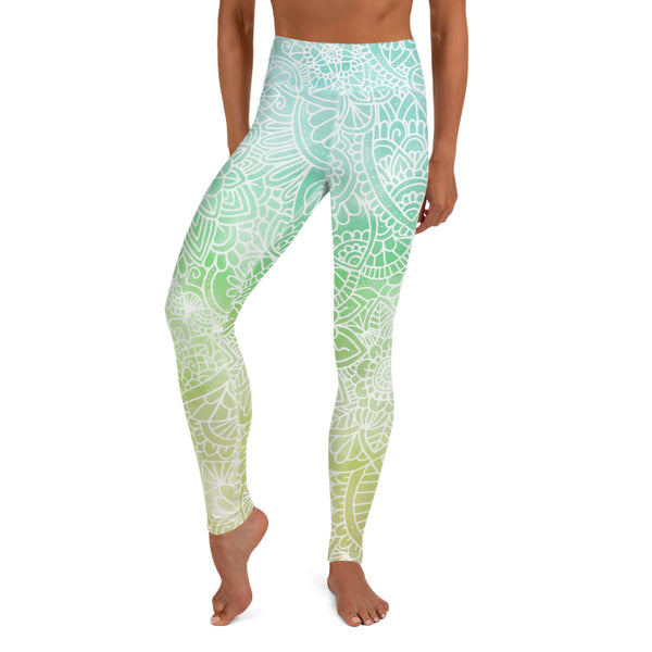 Earth Ombré Women's Yoga Leggings