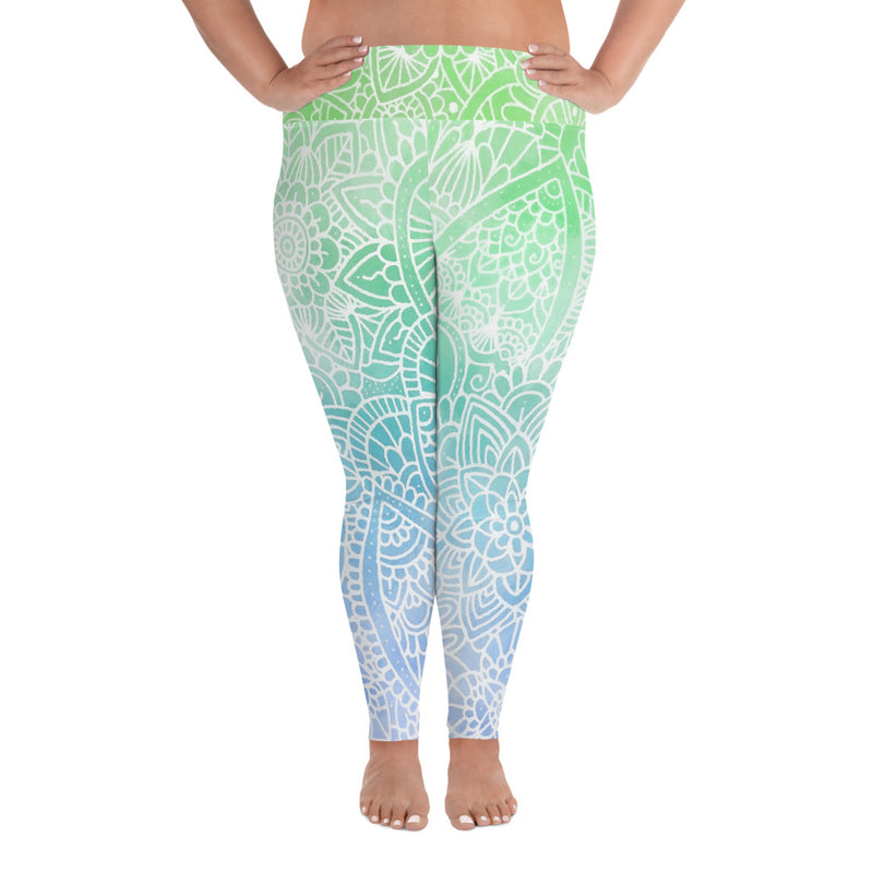 Aurora Ombré Plus Size Leggings