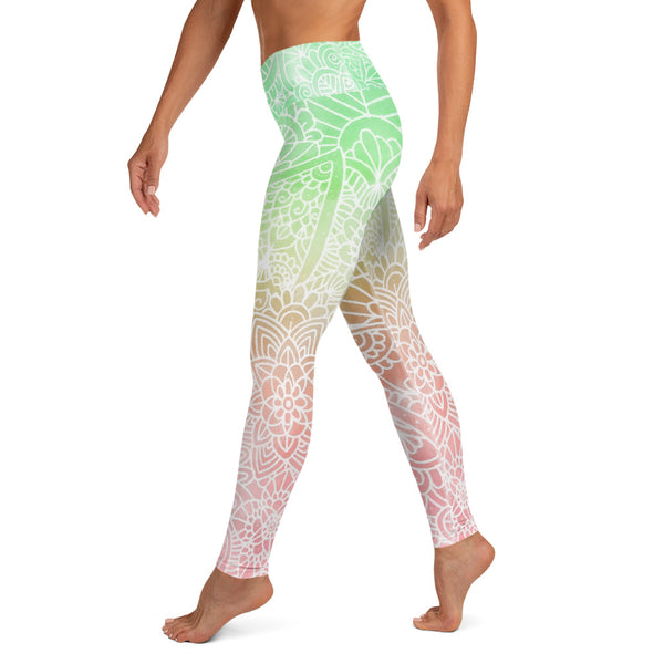 Sunset Ombré Women's Yoga Leggings