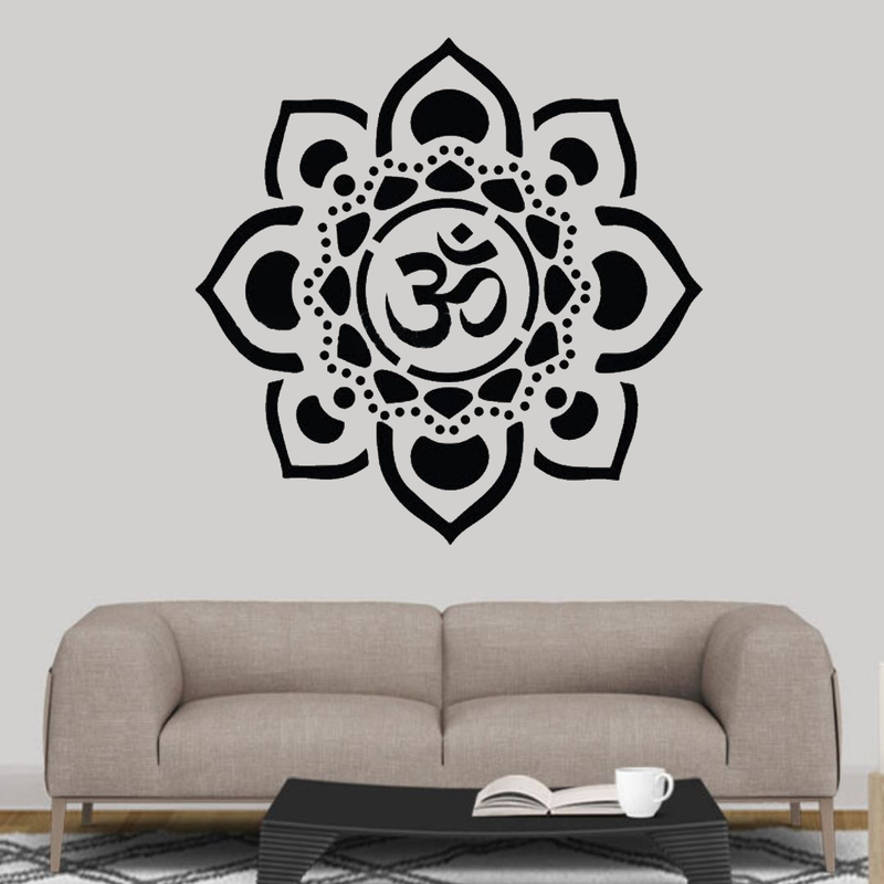 The Om Lotus Wall Decal