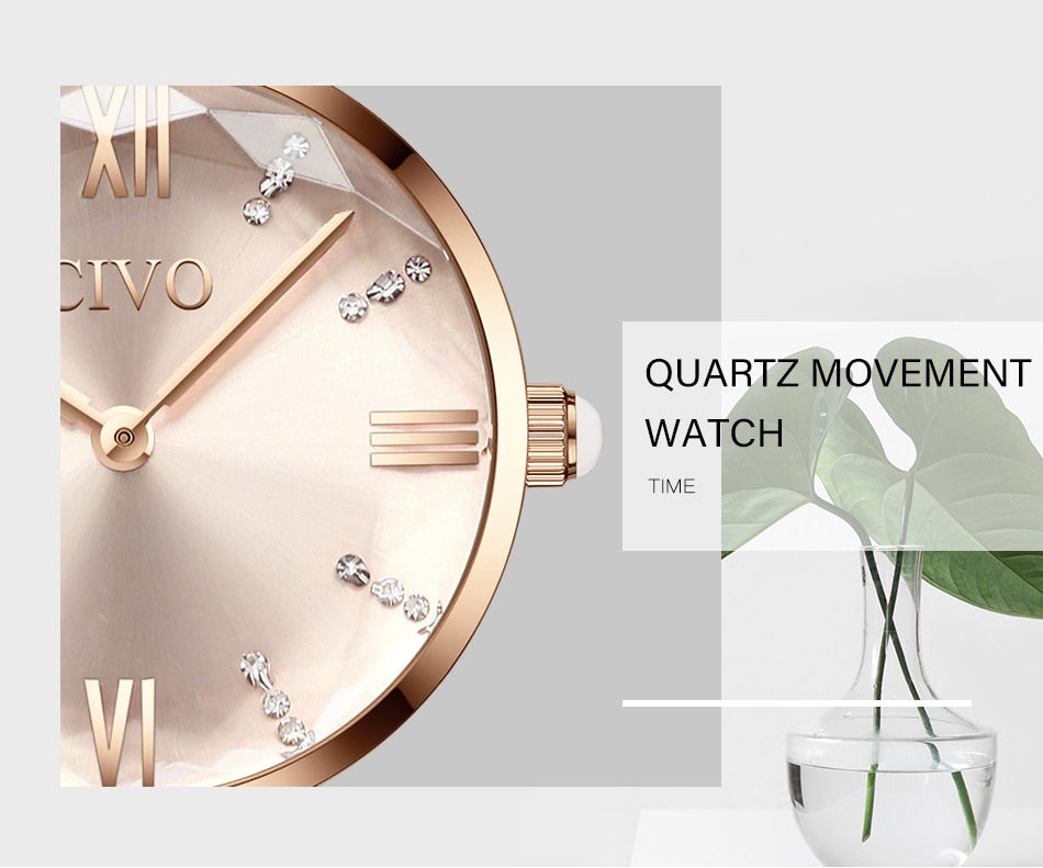 CIVO 2019 Fashion Luxury Ladies Wrist Watch - Watch Couture