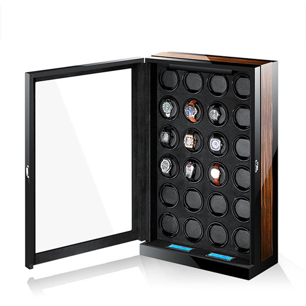 Luxury automatic Watch winder / display for 24 watches. Remote control - Watch Couture