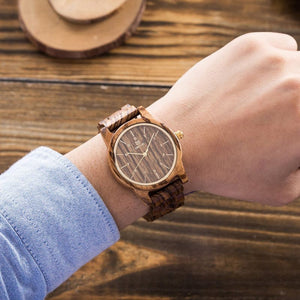 Uwood Natural Wood Watch Vintage Quartz Watch - Watch Couture