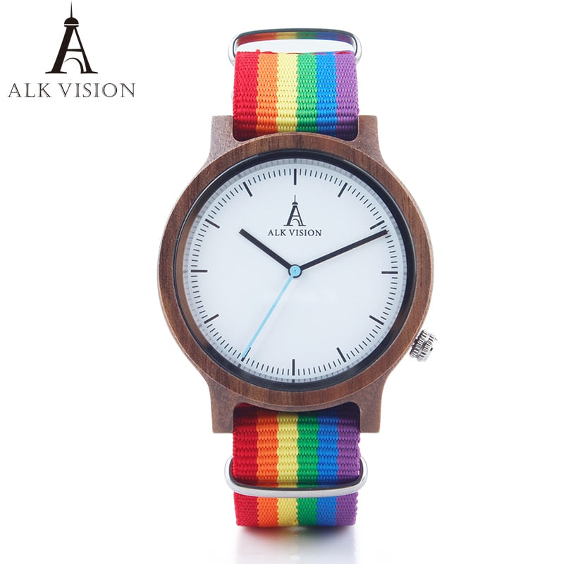 Pride Rainbow .Wood Watch - Watch Couture
