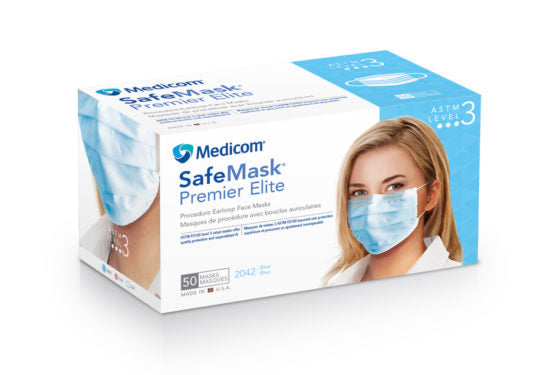 SafeMask Premier Elite ASTM Level 3 Earloop Mask