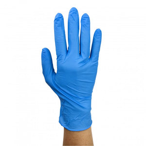 Dynarex Safe-Touch® Blue Nitrile Exam Gloves, 100/box