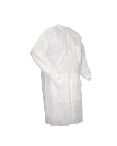 Disposable Lab Coat, Poly, White, 30/case