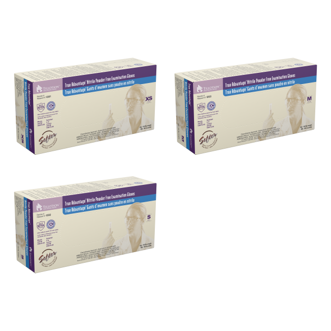 True Advantage® Nitrile Exam Gloves, Powder-Free, 100/box