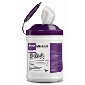 PDI Super Sani-Cloth Wipe, 160/tub, 12tubs/case, Purple Top