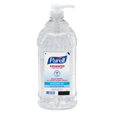 PURELL® Advanced Hand Sanitizer Gel 2 Liter Economy Size Pump Bottle