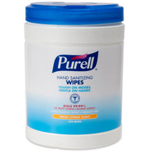 Load image into Gallery viewer, PURELL® Hand Sanitizing Wipes - Non-Alcohol Formula 270 Count Canister, 6/case