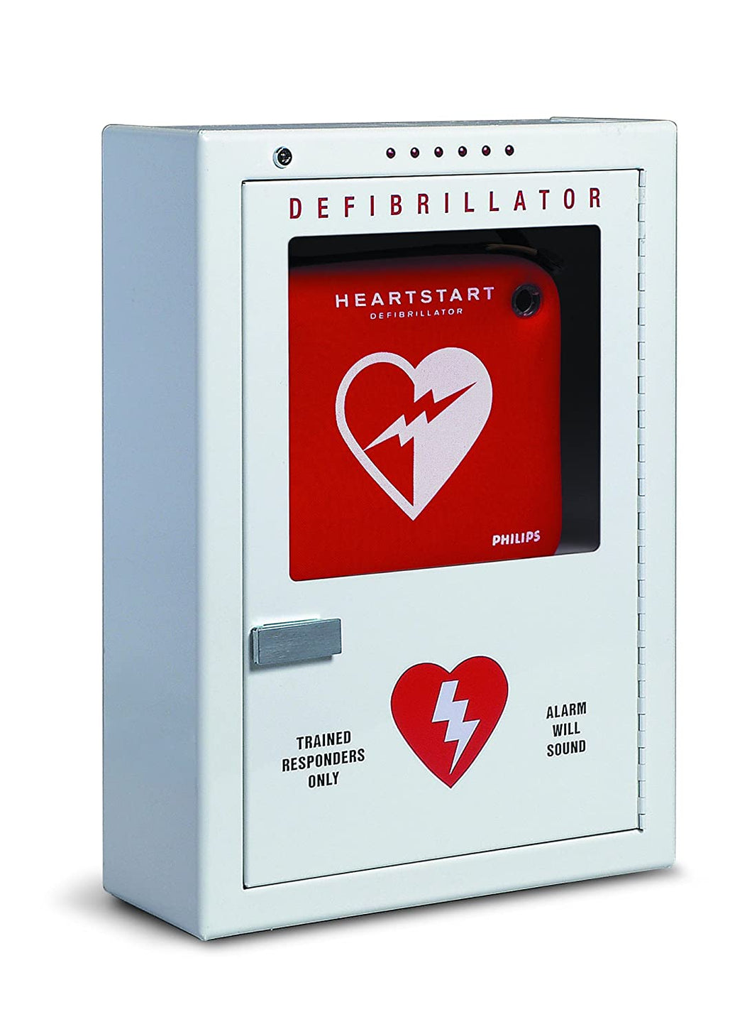 Philips Premium AED Cabinet Surface-Mount w/ Audible Alarm and Strobe Light