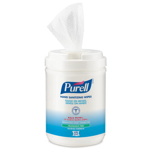 PURELL® Hand Sanitizing Wipes - Alcohol Formula 175 Count Canister, 6/case