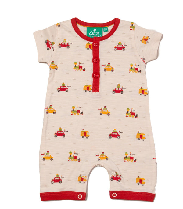 Off On A Journey Organic Shortie Romper