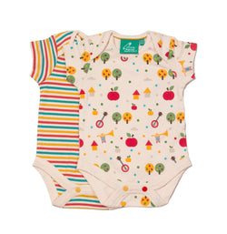 Apple Trees Organic Baby Body Suit - 2 Pack