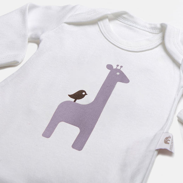 Giraffe Long-Sleeve Bodysuit