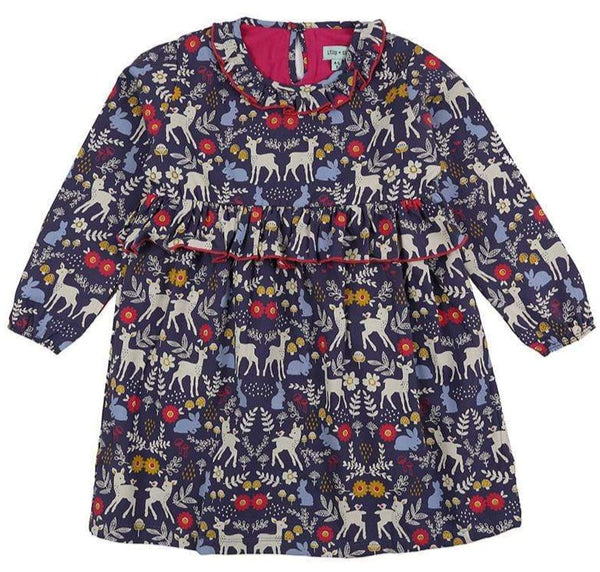 Lilly & Sid Dresses Animals Woven Dress organic childrens clothes