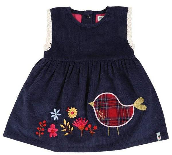 Lilly & Sid Dresses Applique Hem Cord Dress organic childrens clothes