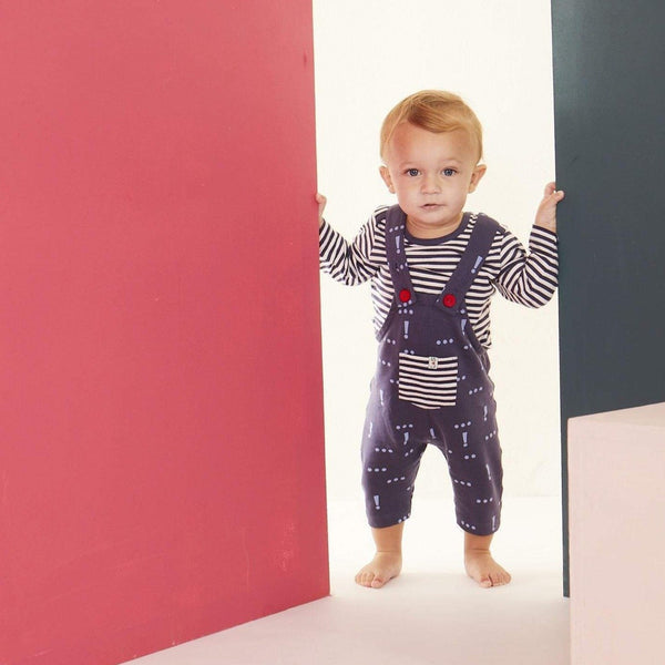 Lilly & Sid Dungarees Make Your Mark Dungerees organic childrens clothes