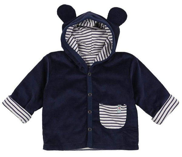 Lilly & Sid Hoodies Cord Bear Jacket - Reversible organic childrens clothes
