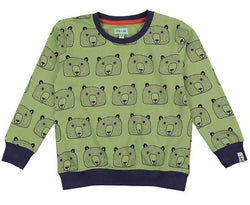 Lilly & Sid Sweatshirts Bear Head Sweatshirt organic childrens clothes