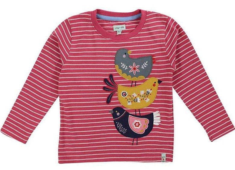 Lilly & Sid T-Shirts 3 Birds Top organic childrens clothes