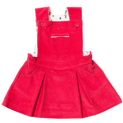 Little Green Radicals Dresses Woodland Adventure Raspberry Pinafore dress organic childrens clothes