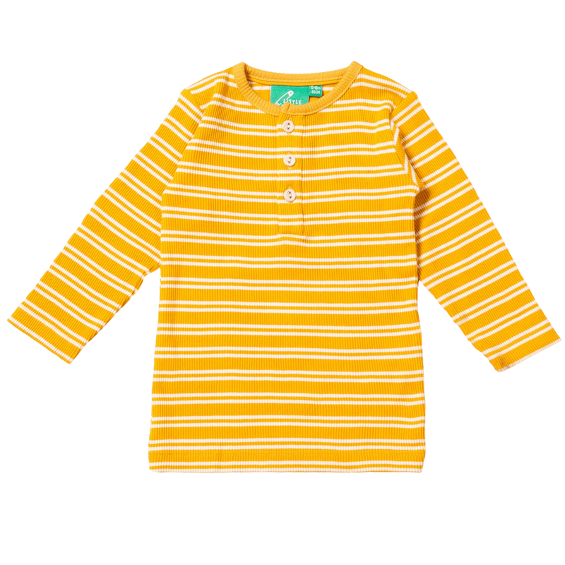 Little Green Radicals T-Shirts Gold Stripes Forever Long Sleeve Top organic childrens clothes