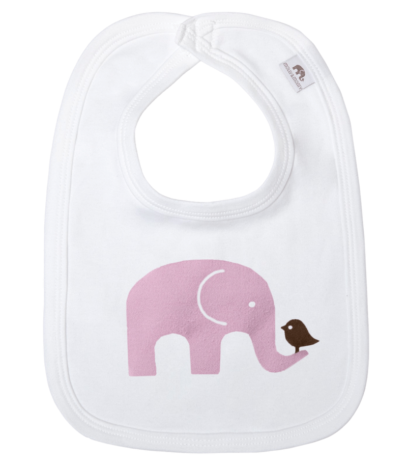 Molly & Monty Bibs All Pink Elephant Bib organic childrens clothes