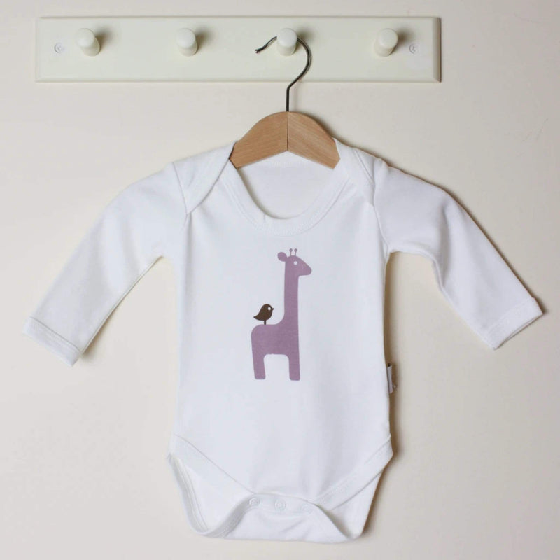 Molly & Monty Bodysuits Giraffe Long-Sleeve Bodysuit organic childrens clothes