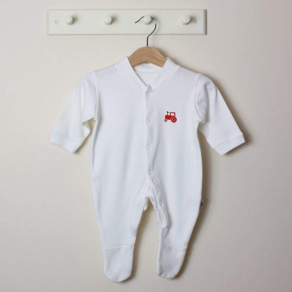 Molly & Monty Sleepsuits Red Tractor Sleepsuit organic childrens clothes