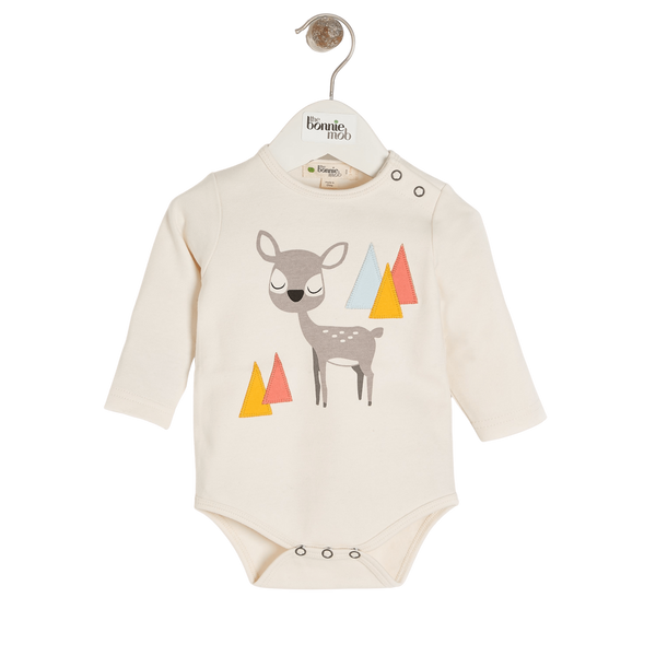 The Bonnie Mob Bodysuits Chestnut - Bodysuit - Placed Deer organic childrens clothes