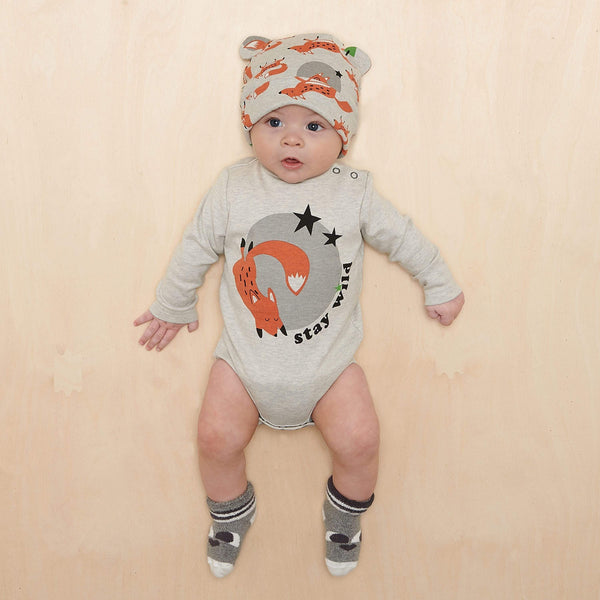 The Bonnie Mob Bodysuits Chestnut - Bodysuit - Placed Fox organic childrens clothes