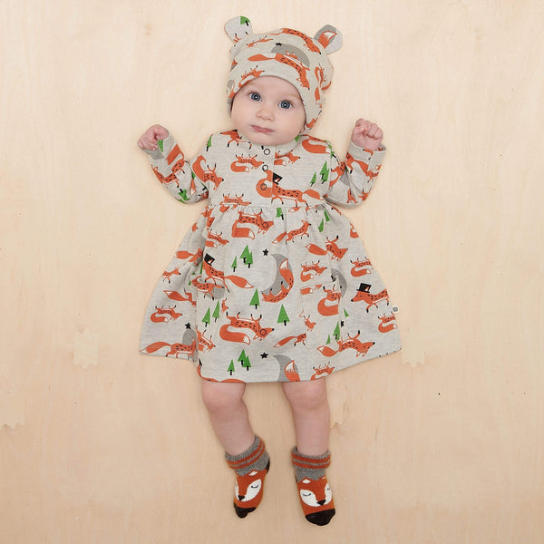 The Bonnie Mob Dresses Corin - Dress With Pockets - Fox organic childrens clothes