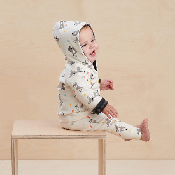 The Bonnie Mob Leggings Conker - Harem Trouser - Deer organic childrens clothes