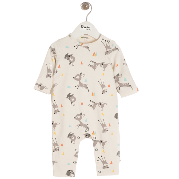 The Bonnie Mob Playsuits Cedar - Playsuit - Deer organic childrens clothes