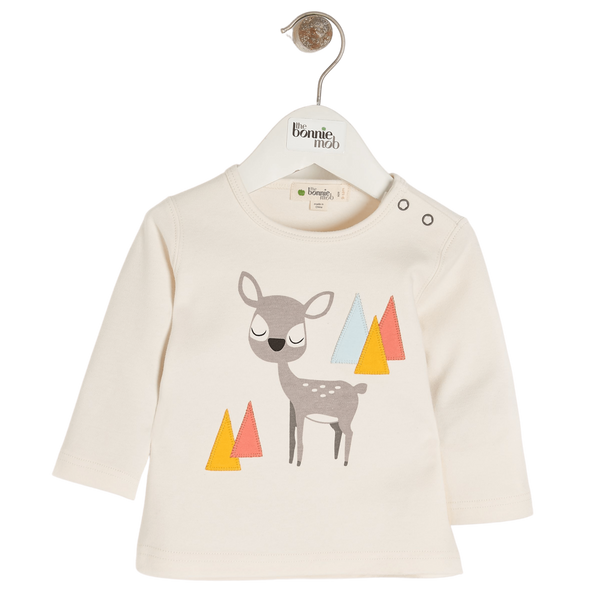 The Bonnie Mob T-Shirts Cosmo - T-shirt - Placed Deer organic childrens clothes