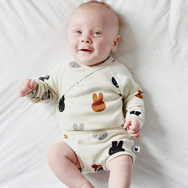 Tobias & the Bear Bodysuits Miffy & Friends Kimono Bodysuit organic childrens clothes