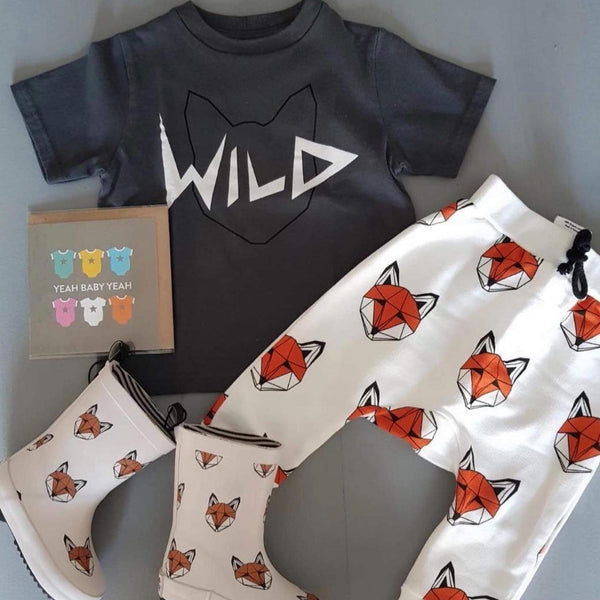Tobias & the Bear Leggings Just Call Me Fox Joggers organic childrens clothes