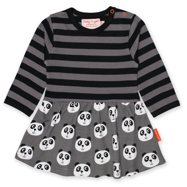 Toby Tiger Dresses Organic Panda Twirl Dress organic childrens clothes
