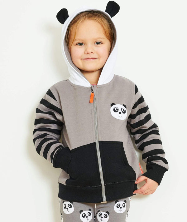 Toby Tiger Hoodies Organic Panda Hoodie organic childrens clothes
